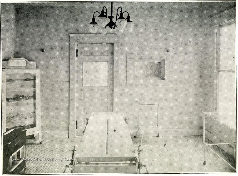 Operating Room of Barnett Hospital, 1919