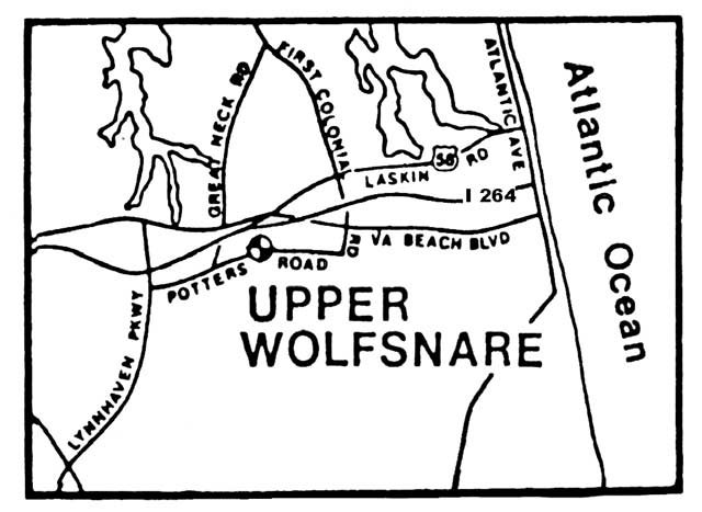 Map view of the Upper Wolfsnare