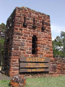Bastrop State Park Sign