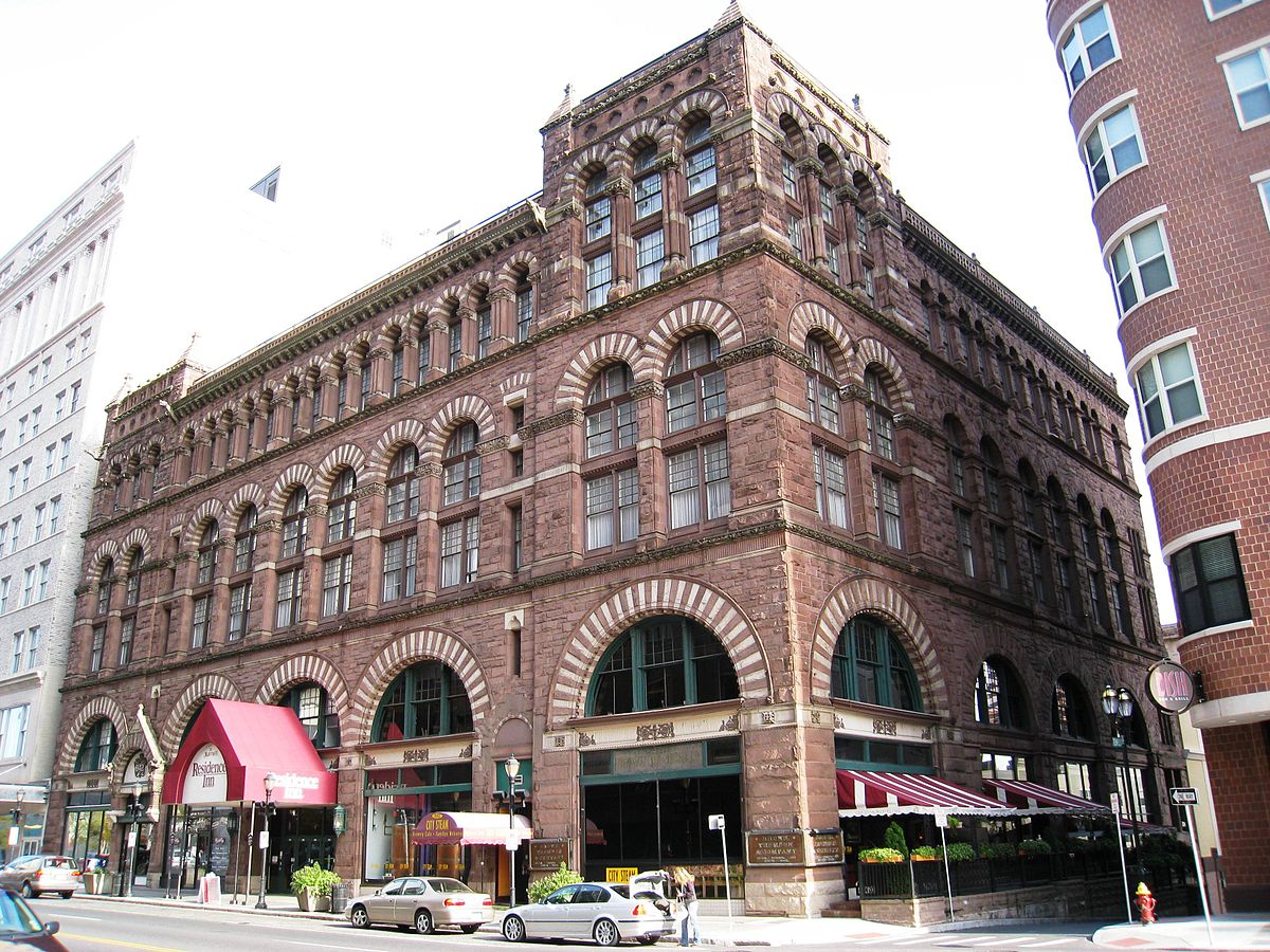 Cheney Building By H. H. Richardson (1838–1886). Building finished in 1876.