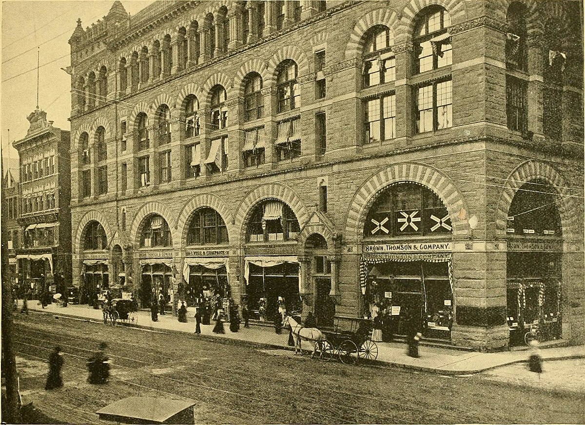 1895 Picture of the Cheney Building (then known as the Brown, Thompson & Co. Building).