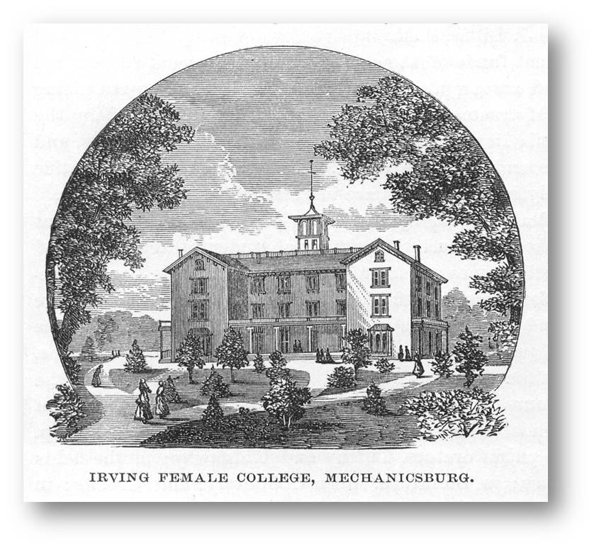 Drawing of Irving Female College