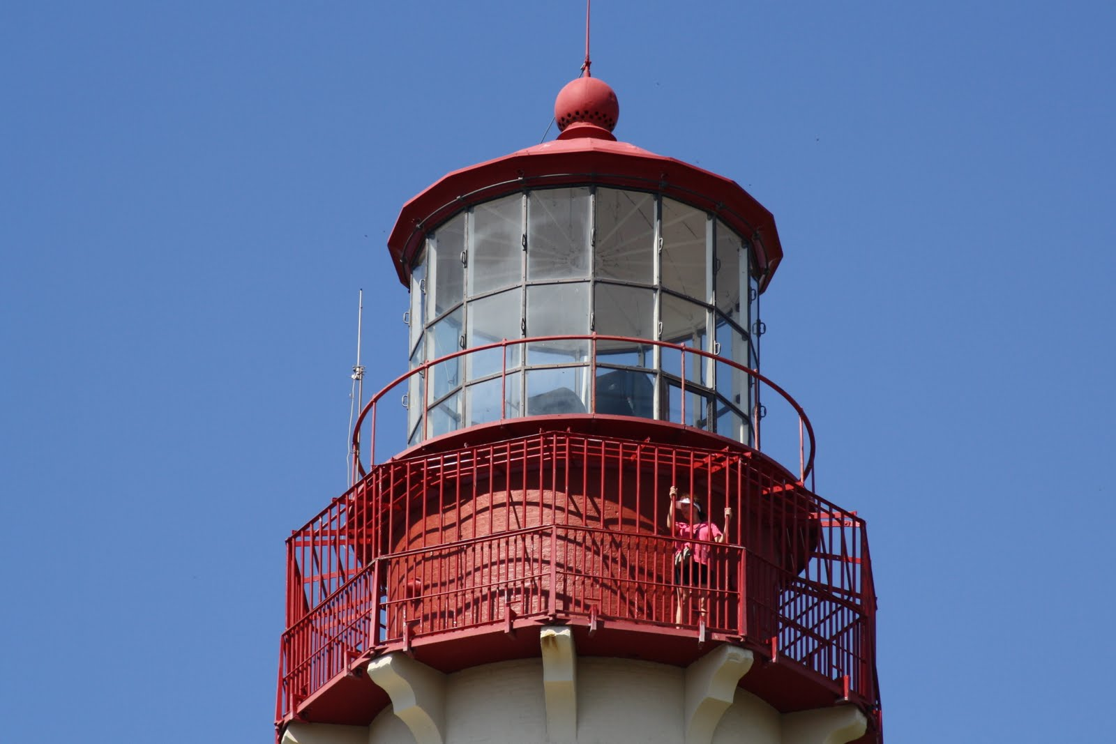 The upper section of the lighthouse.