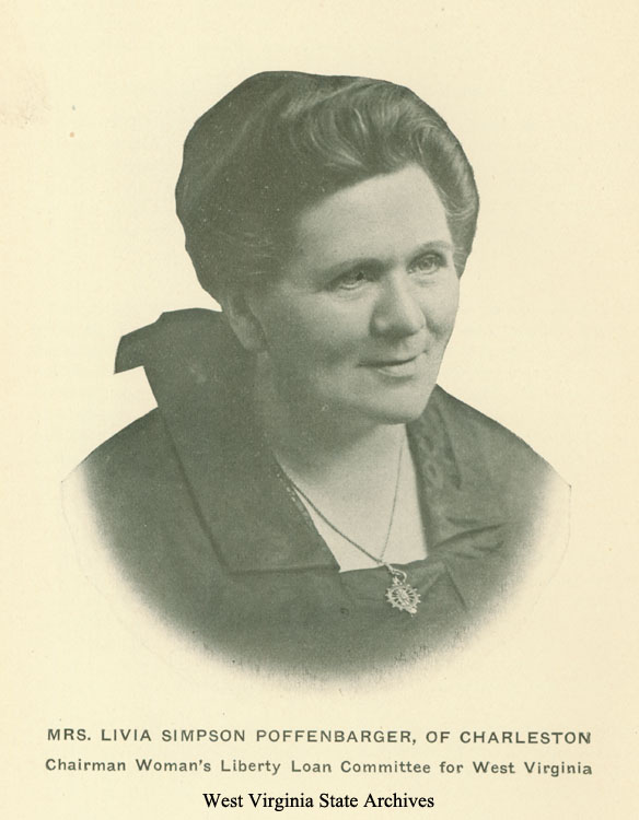 Livia Simpson Poffenbarger (1862-1937) was active in Republican politics, ran her own newspaper, published several books, and worked to preserve the history of the Battle of Point Pleasant.