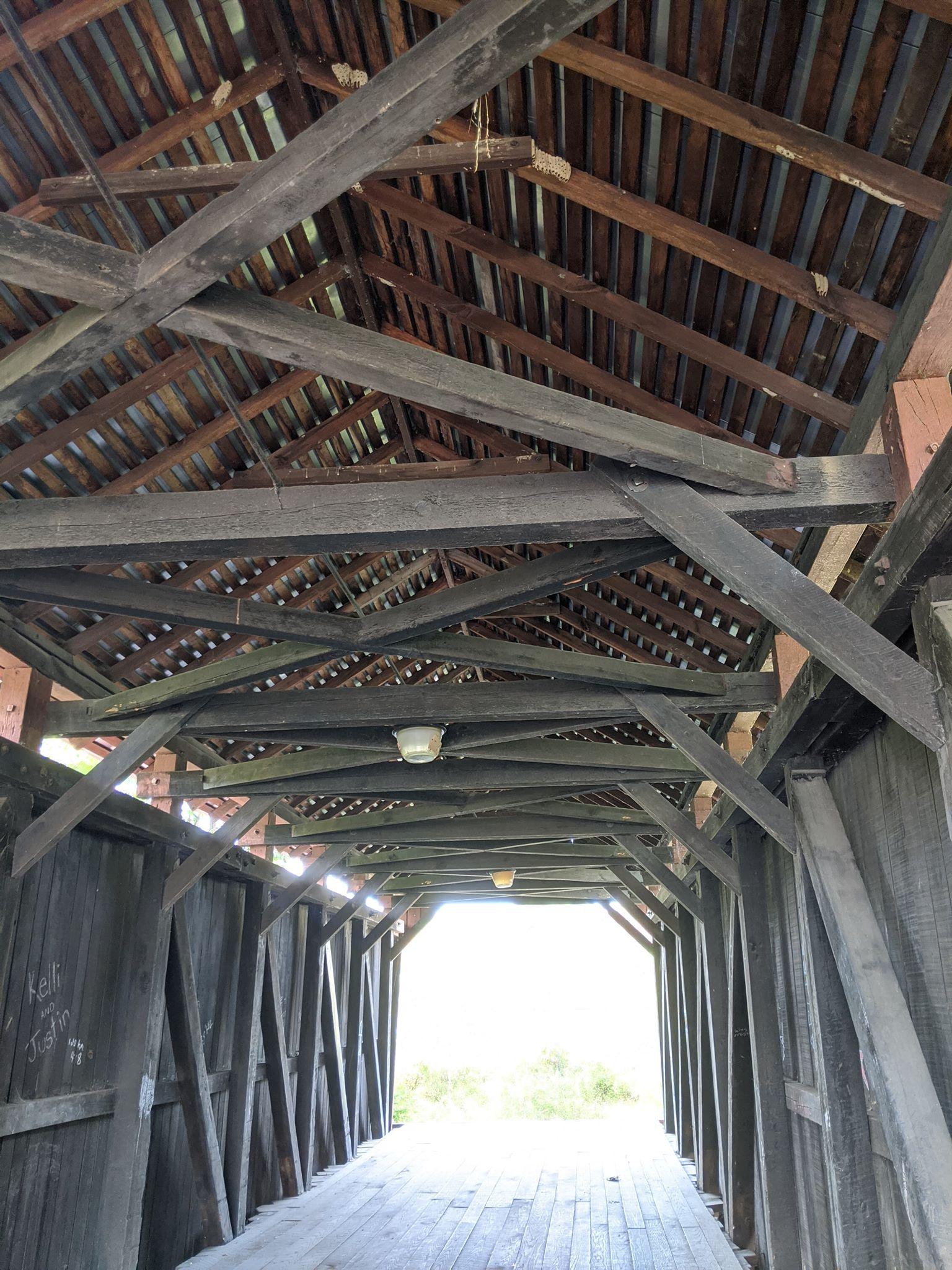 Interior view of the bridge