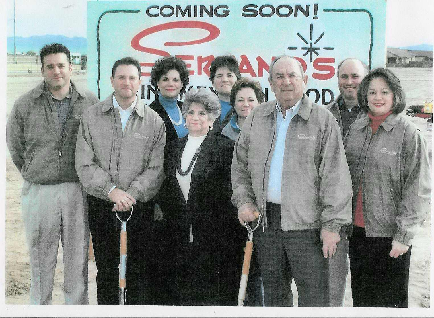 Serrano Family at a Restaurant Groundbreaking, 2005
