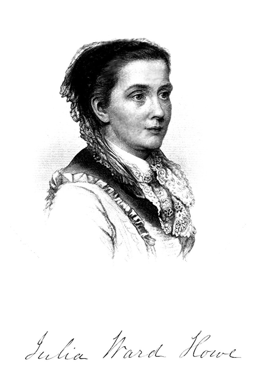 A sketch of Julia Ward Howe in Volume 2, History of Women Suffrage (1887)