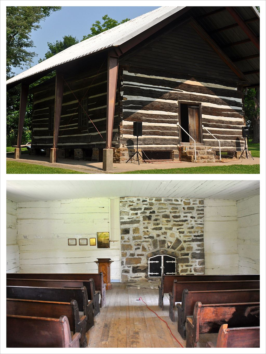 The McKendree Chapel was built in 1819 and is the oldest extant Protestant church west of the Mississippi River.