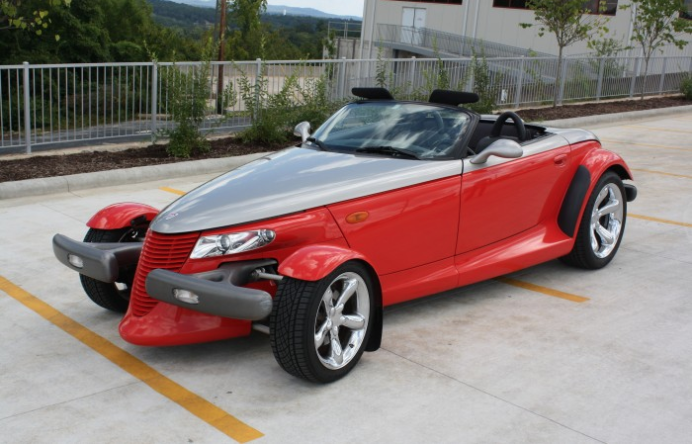 This 1999 Plymouth Prowler is one of many collector cars on display. Many of the of cars at the museum are available for purchase, including this one.
