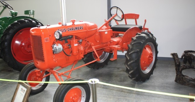 The museum features 180 farm vehicles and equipment.