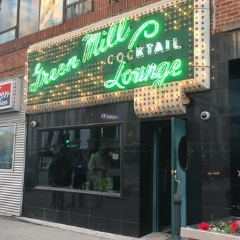 Green Mill facade and marquee sign