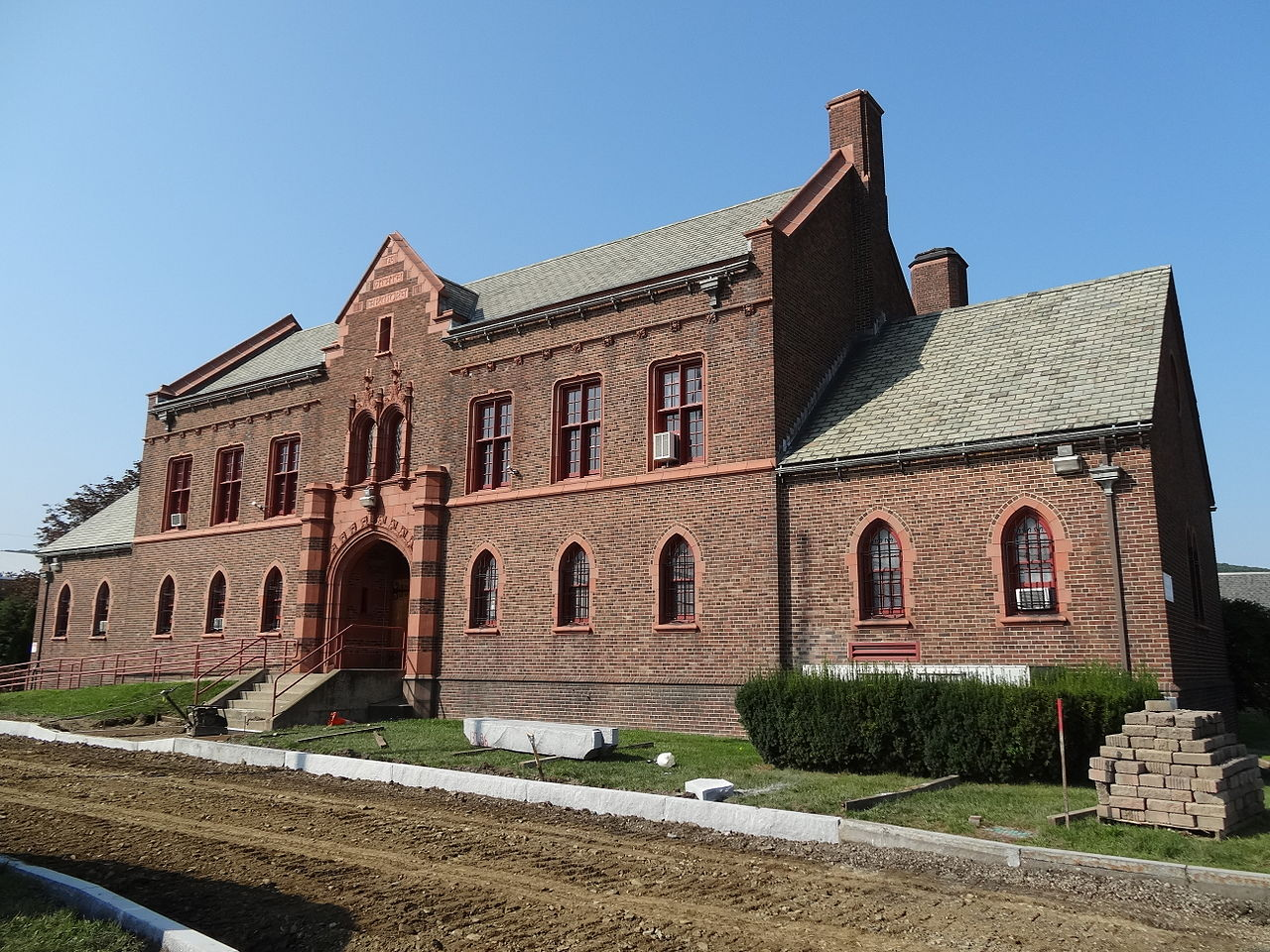 The Corning Armory was built in 1936 and is now home to the Y.M.C.A.