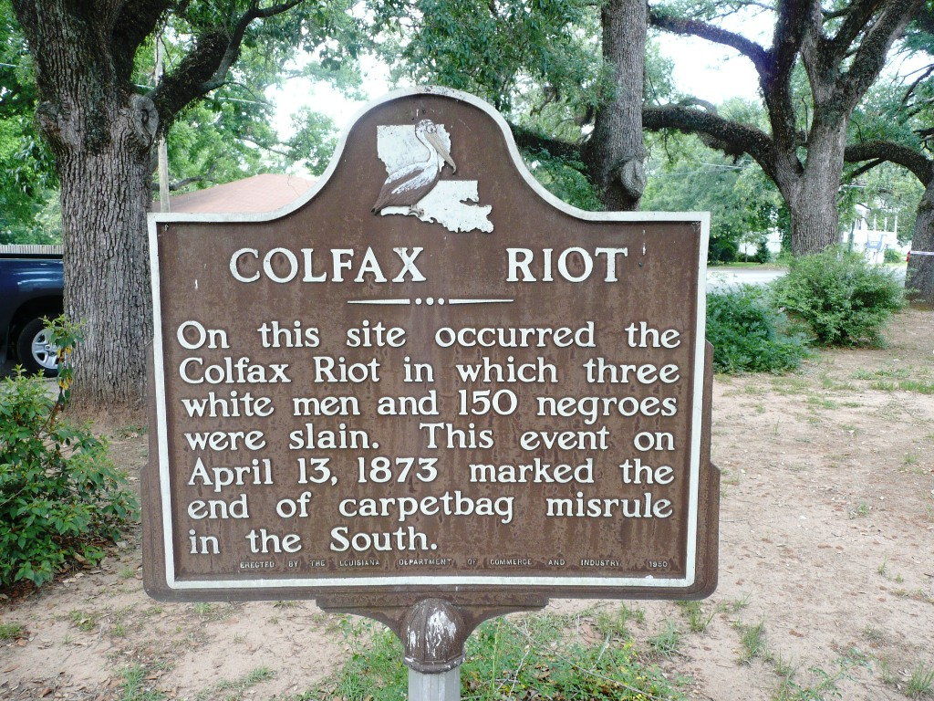 "The marker was dedicated in 1950 and presents the history of the event as a ""riot,' implicitly spreading blame equally among white supremacists and African Americans who defended their right to vote."