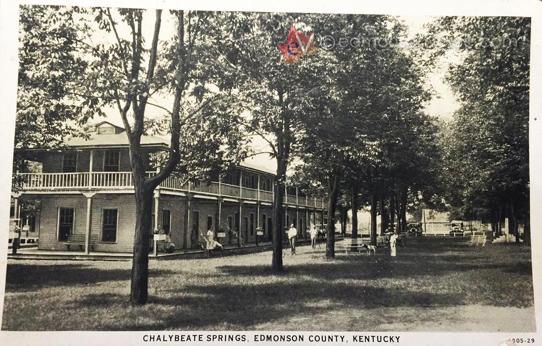 Chalybeate Springs Postcard, 1930s