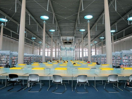 Top Floor main reading room in the library.
