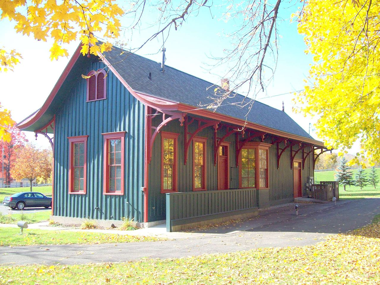 The Painted Post-Erwin Museum at the Depot was built in 1882 and today houses a museum operated by the Corning-Painted Post Historical Society.