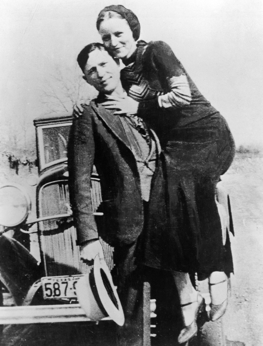 Bonnie (right) and Clyde became infamous throughout America. Their life story is constantly portrayed in media.