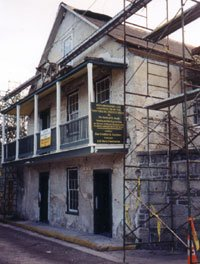 Restoration efforts in 2001. Credit: Sisters of St. Joseph