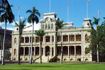 Today, Iolani Palace, located in Honolulu, Hawaii, has been restored to provide a historical representation of what the palace looked like when it was built.