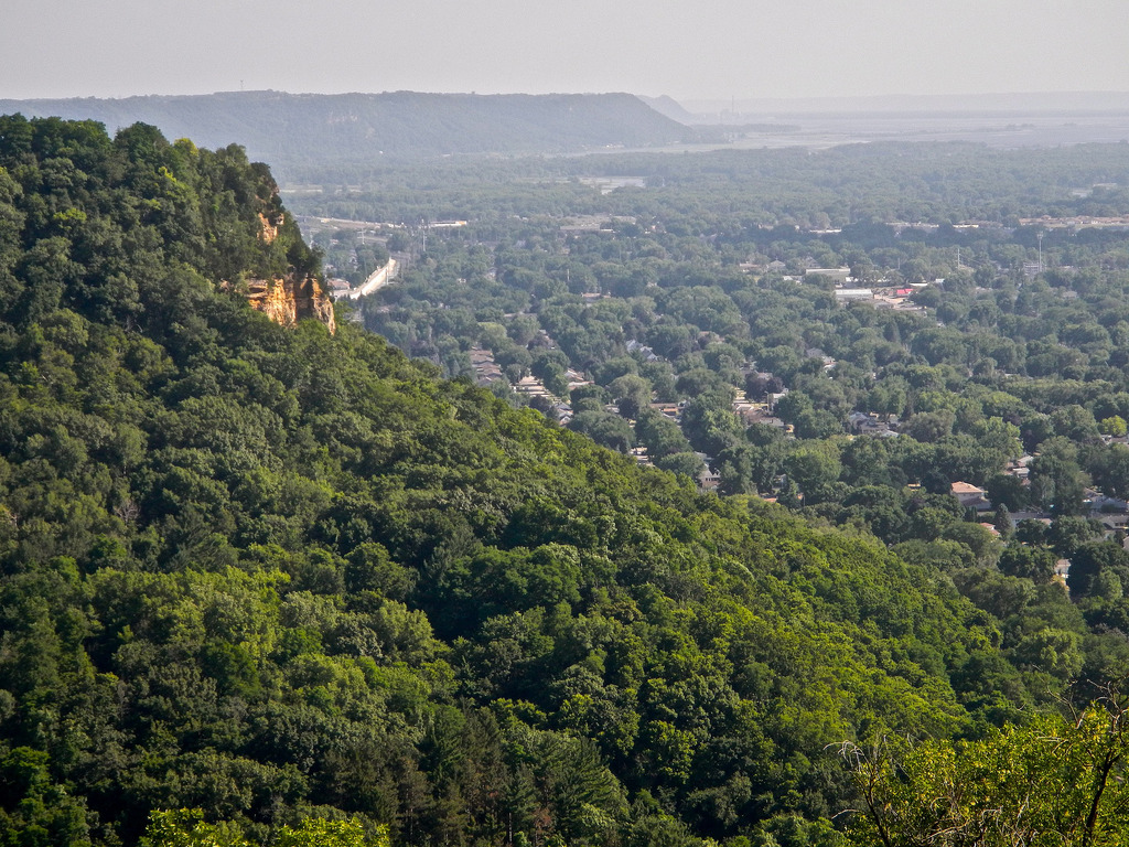 The bluffs of La Crosse looking north.