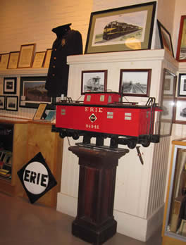 A lot of railroad memorabilia and other railroad items are on display at the museum.