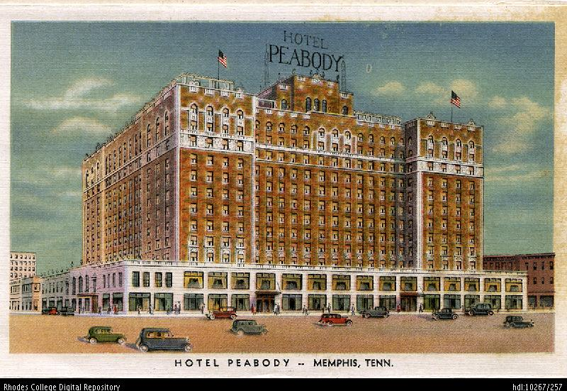 This postcard shows a panoramic view of the Peabody circa 1935