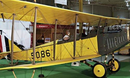 """This is the """"Curtiss JN-4D Jenny,"""" which solidified Curtiss' status as the best airplane manufacturer in the country. As a result, the U.S. military bought around 7,000 of them for WWI."""