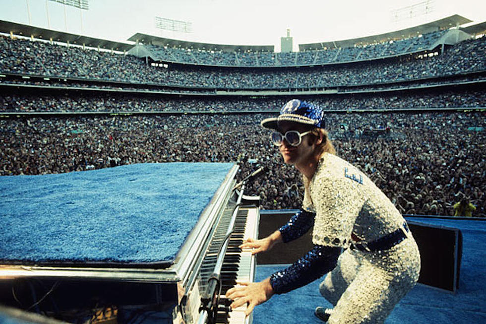 Elton John playing Dodger Stadium for 110,000 people.