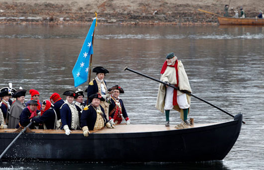 Reenactors participating in the reenactment of Washington's crossing allow visitors to gain an understanding of how massive this operation was.
