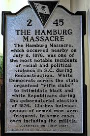"This marker interprets the event as a ""massacre"" and offers context. It is not on public display owing to fears of vandalism by those who prefer the memorization of Meriwether"