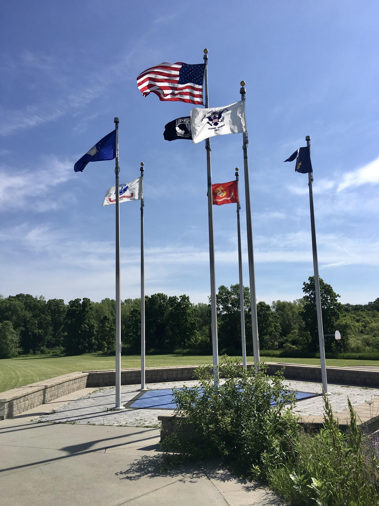 Veterans Memorial Park Flags honoring Wisconsin Veterans