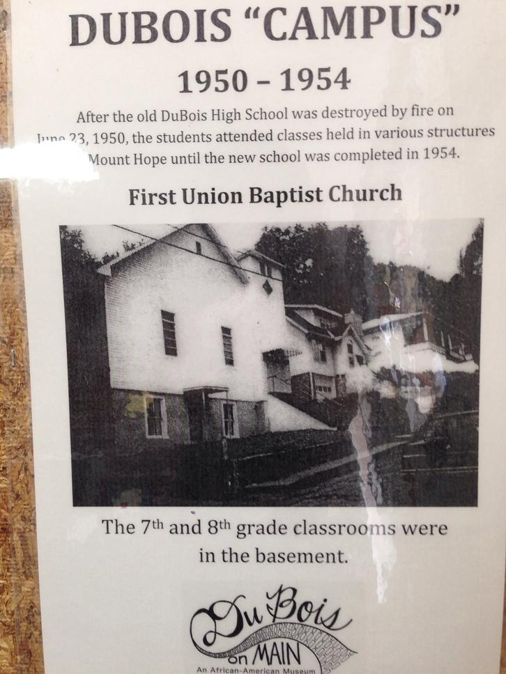 First Union Baptist Church, temporary location 1950-1954.