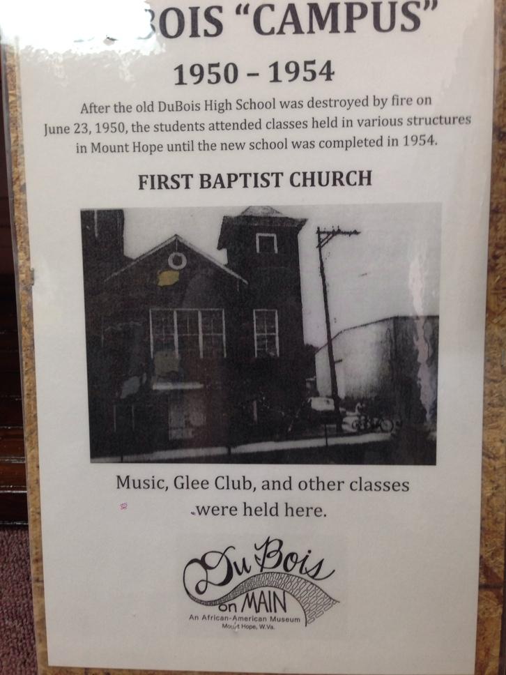 First Baptist Church, temporary location 1950-1954.