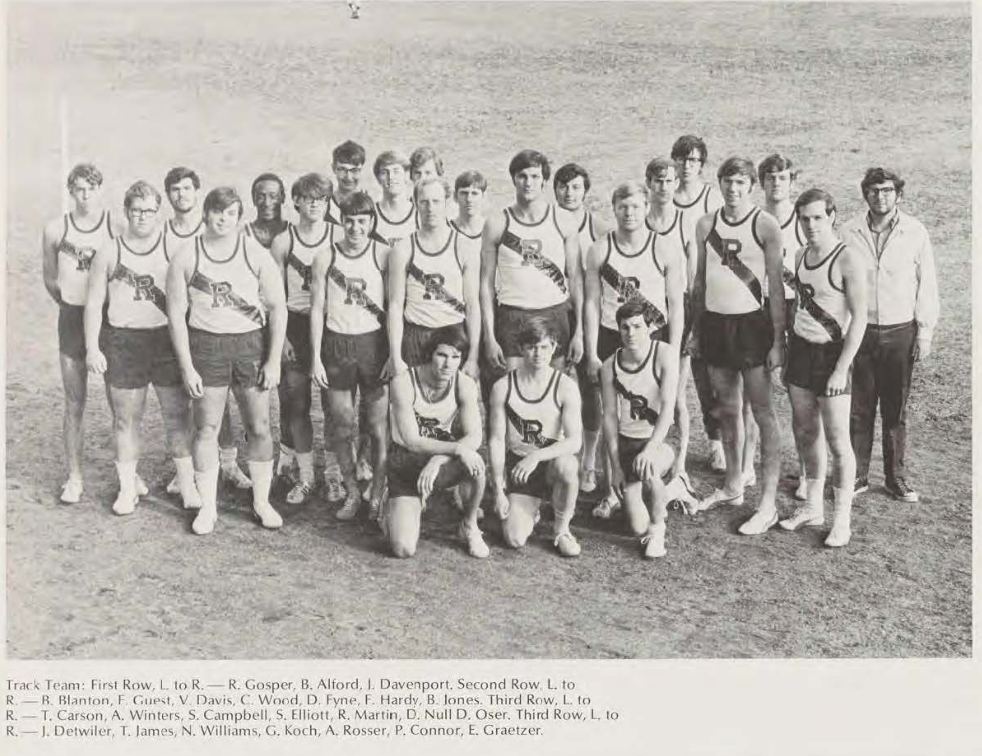 This photo taken from the 1971 yearbook features Norman Williams, the first black track athlete at the University.