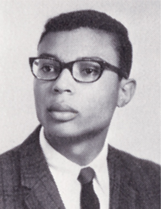 Barry Greene's first-year portrait from the 1969 yearbook. (Source: Race & Racism Project)