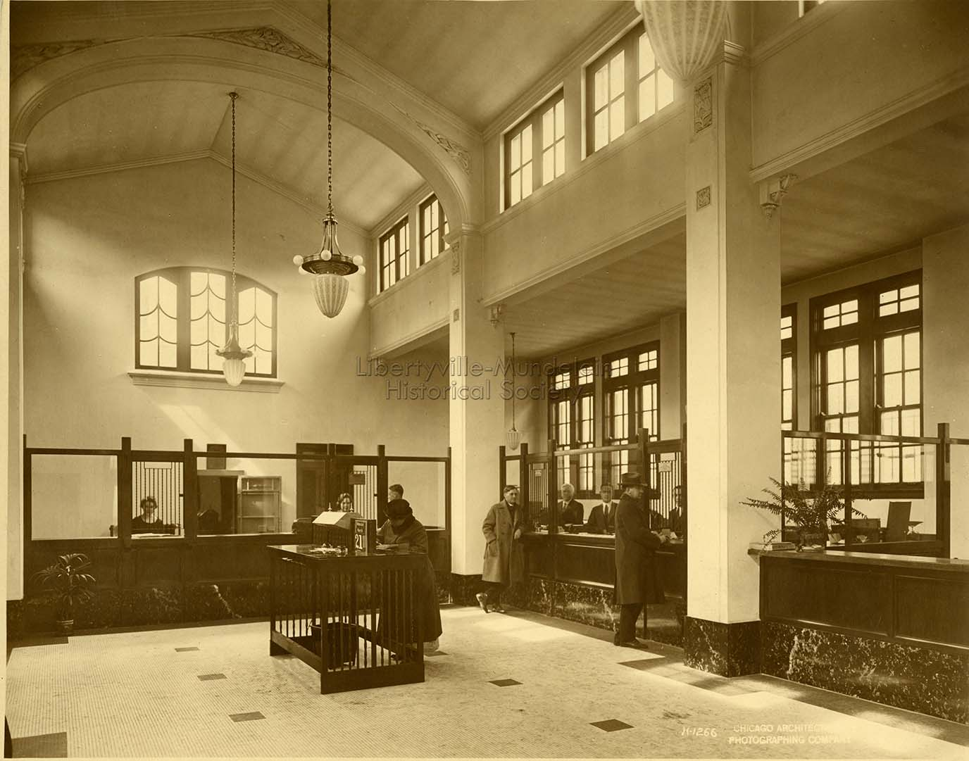 Lake County National Bank, interior, 1923