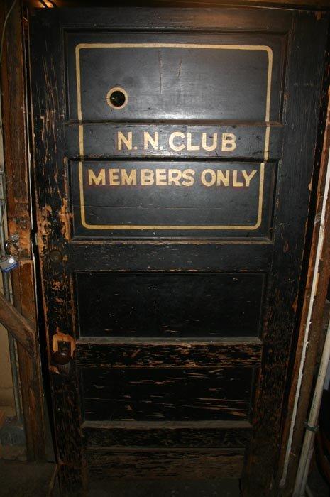Original N.N. Club door