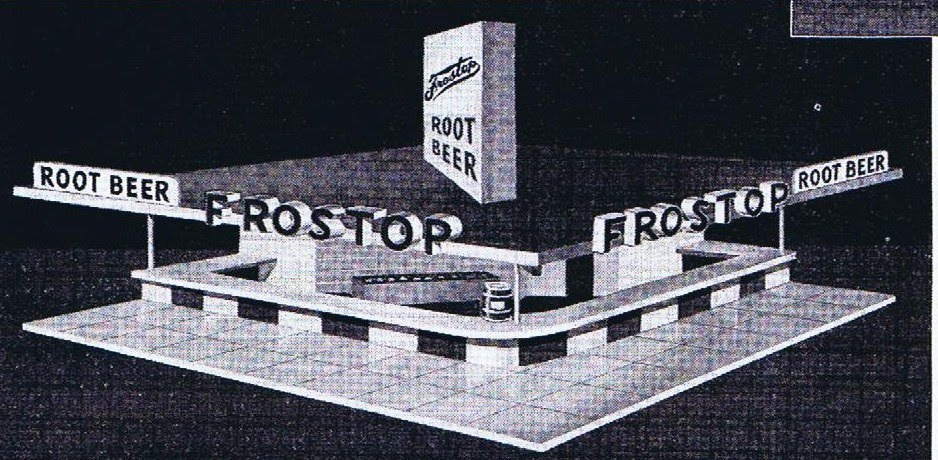 Frostop building design before the giant mug was introduced