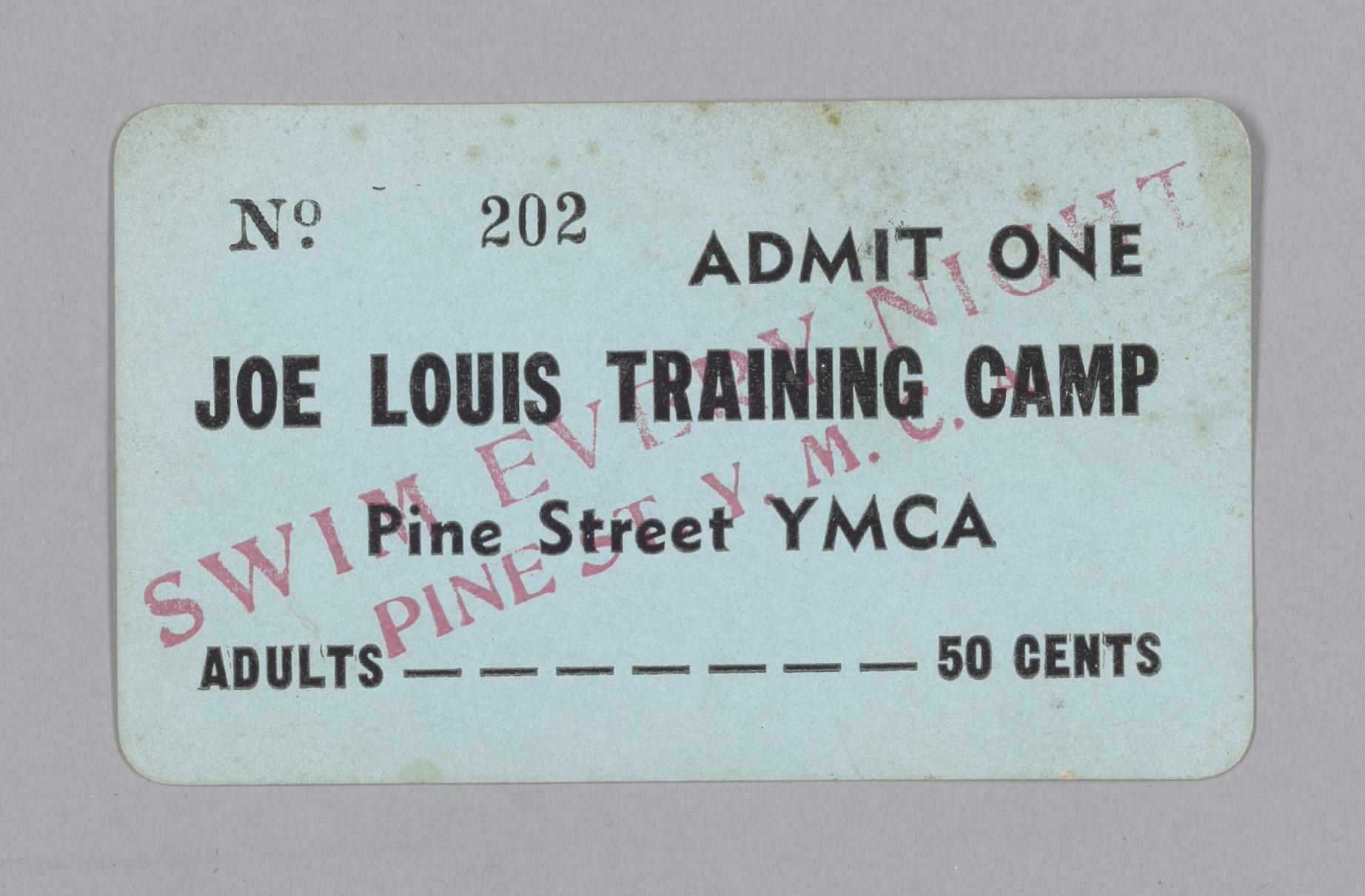 Training Camp Admission Card
