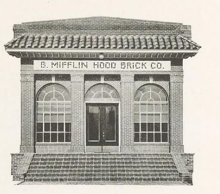 "Photo of entrance to building from company's 1925 ""Pottry"" catalog"