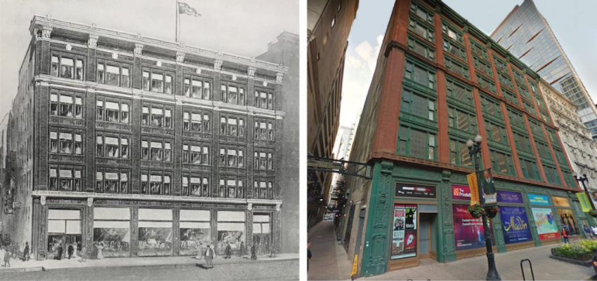 The Oliver Building only stood five stories high in 1907. Two stories were added in 1920.
