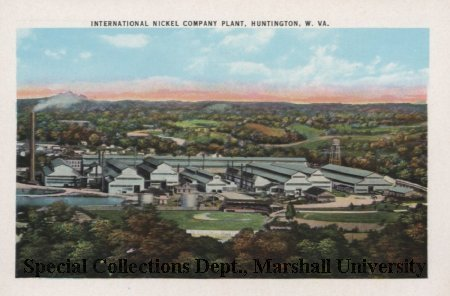 Postcard of the nickel plant, circa 1940