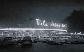 First Mel's Drive In opened in San Francisco near Mission street, seating over 75 people inside and 110 cars outside.