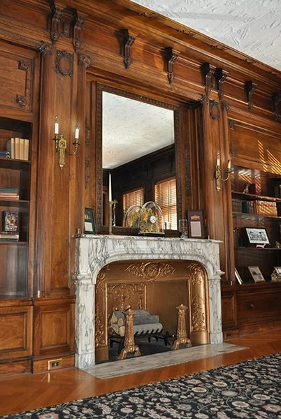 Fireplace in the Mayor's Office. Source: KAS Interior Design.