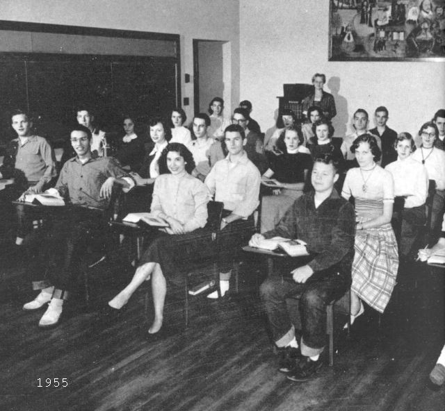 Students in a classroom, 1955