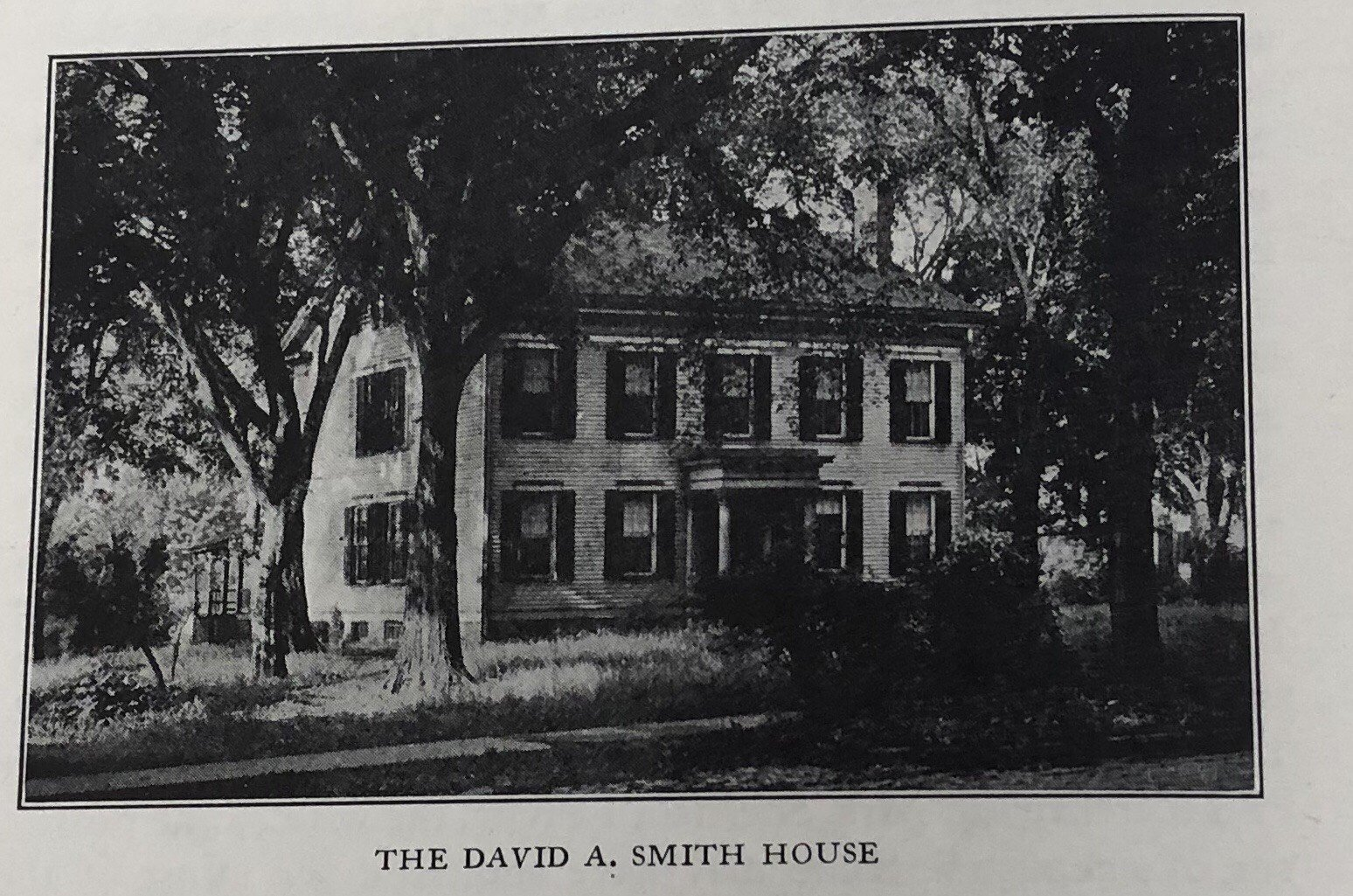 An old photo of the David A. Smith house.