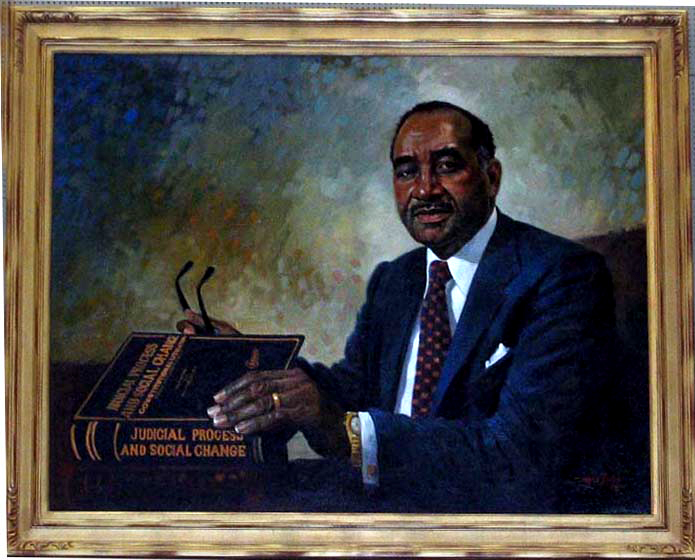 Oil Painting of Clarence M. Mitchell, Jr. - Located in Courtroom 215