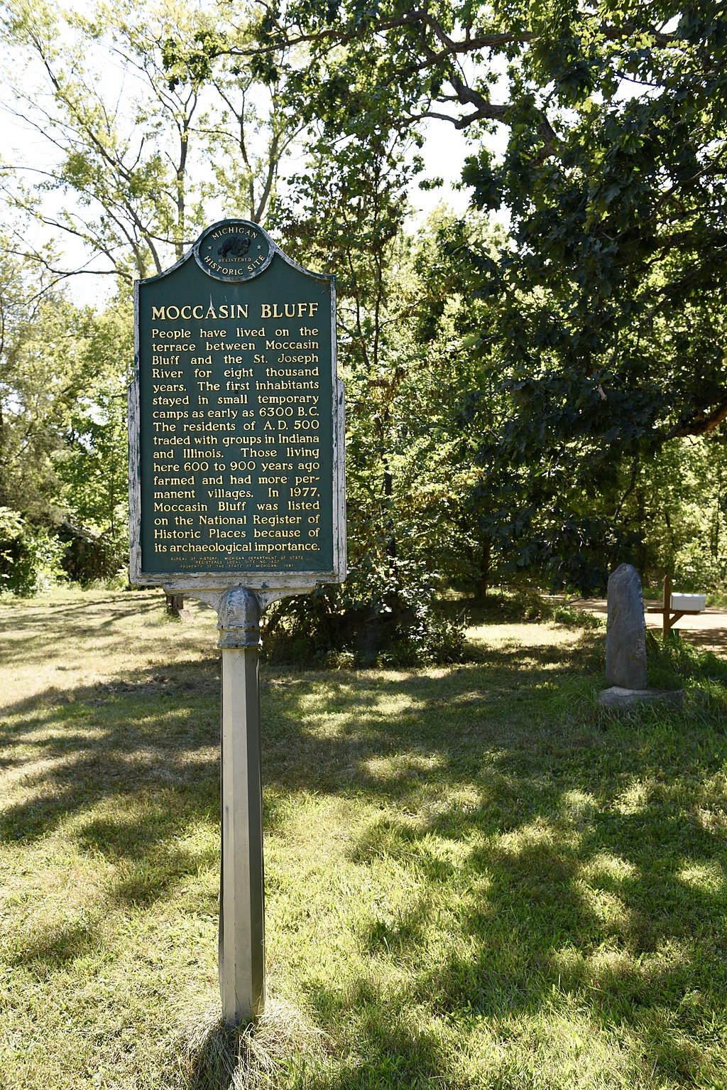 This historical marker indicates the location of the site. Please note that the map location is general and not the exact spot of the marker.