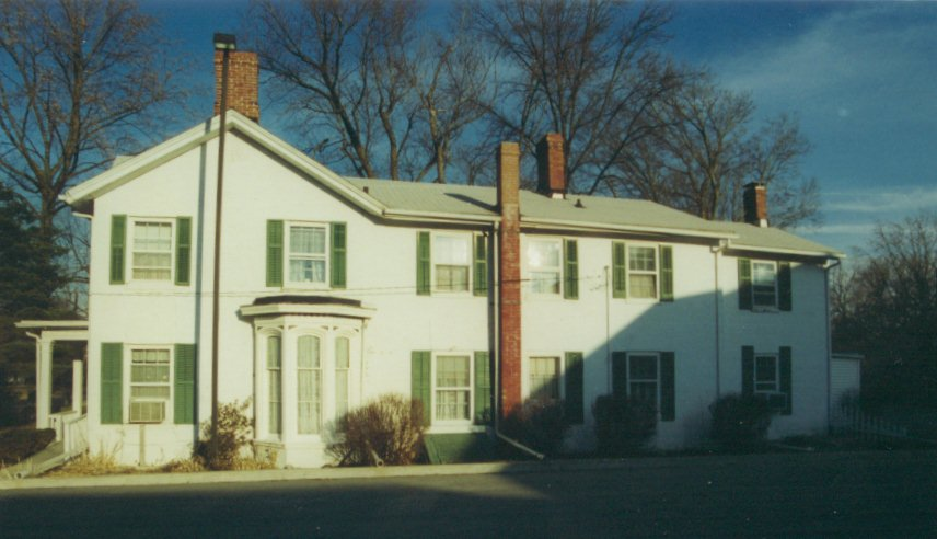Asa Talcott House shown from a side angle, showing where it was built onto; the house was built in three separate sections.