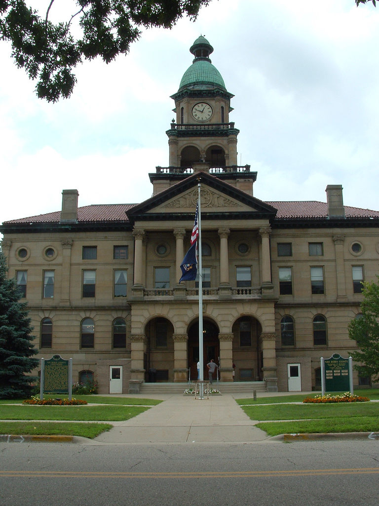 The Van Buren County Courthouse was built in 1903.
